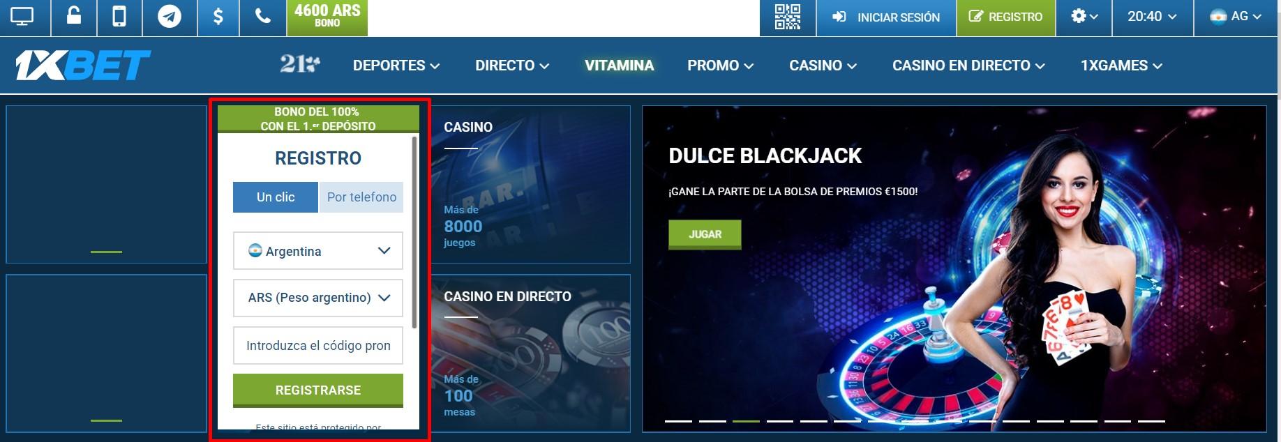 Qué es casa de apuestas 1xBet registro para jugadores en Argentina