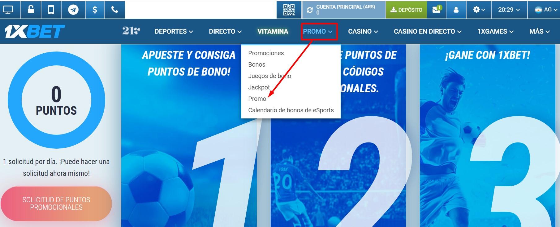 Code de promo 1xBet Argentina
